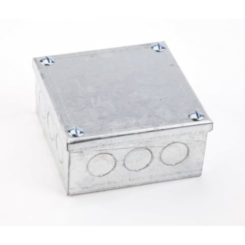 "Adaptable Box 6"" x 6"" x 3"" Knock-Out"
