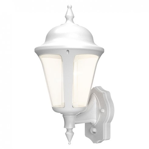 Ansell Latina LED Wall Lantern with PIR 8W White