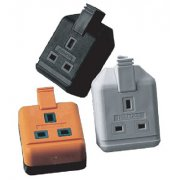 Masterplug Trailing Socket 13A Single Black