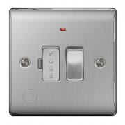 Nexus Spur Switch Neon Flex Outlet Brushed Steel Grey