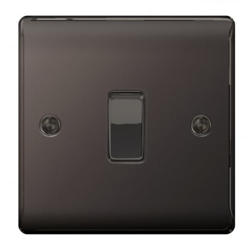 BG Electrical Nexus Switch 10A 1G Intermediate Black Nickel