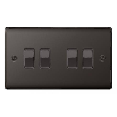 BG Electrical Nexus Switch 10A 4G 2W Black Nickel