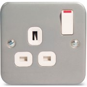 Nexus Switch Socket 13A 1G Metal Clad
