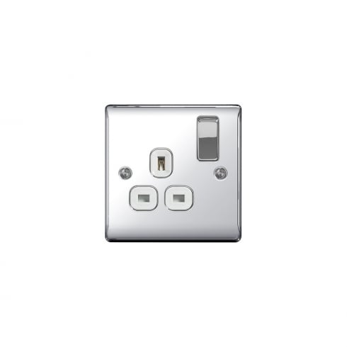 BG Electrical Nexus Switch Socket 13A 1G Polished Chrome
