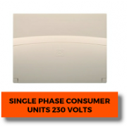 Single Phase Consumer units 230 Volts