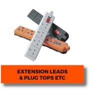 Extension Leads & Plug Tops etc.