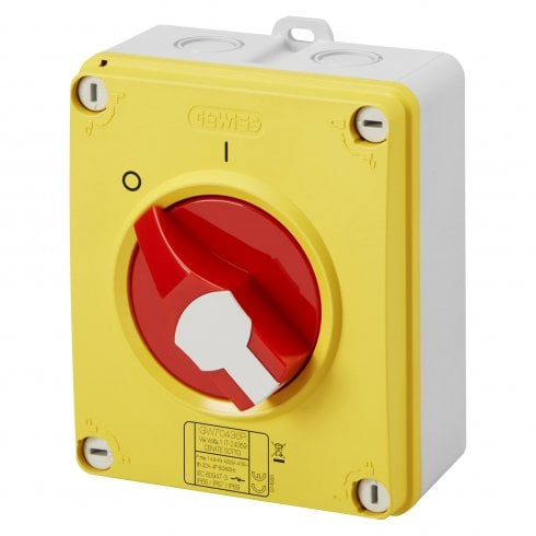 Gewiss Enclosed Isolator 32A 4P IP65