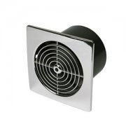 Fan 100 mm Low Profile Square Chrome