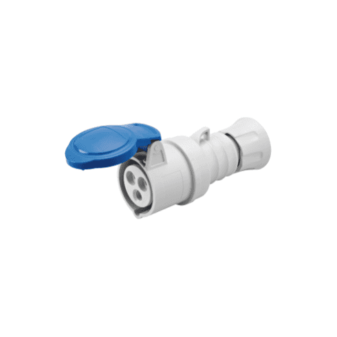 Gewiss 240V Straight Connector 2P + Earth 32A