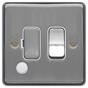 Spur Switch F/O Brushed Steel White