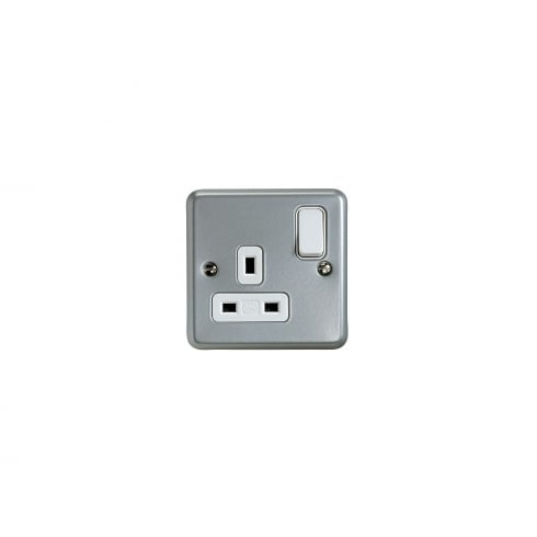 MK Switch Socket 13A 1G Metal Clad